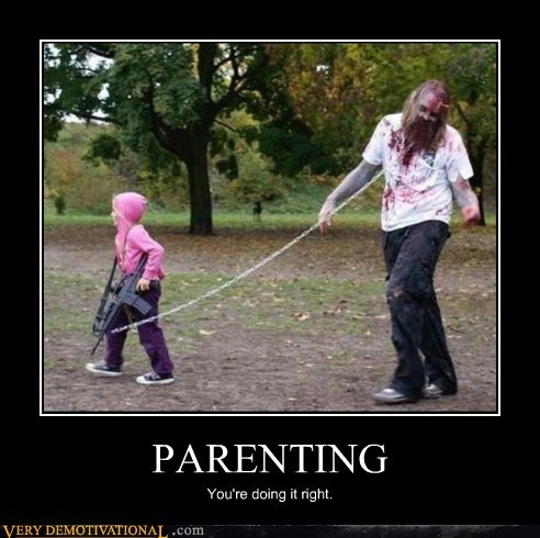 kids parents Pure Awesome zombie