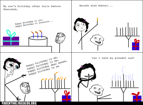 baby birthday candles g rated hannukah hanukkah holidays parenting Parenting Fail rage comic whoops