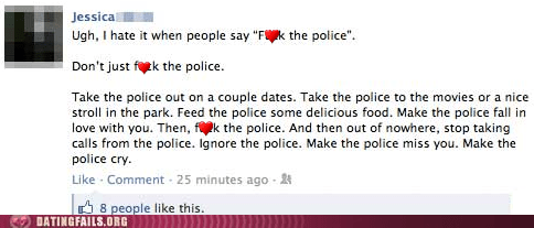 cold emotions f the police facebook fight the power police status update We Are Dating - 5509055232