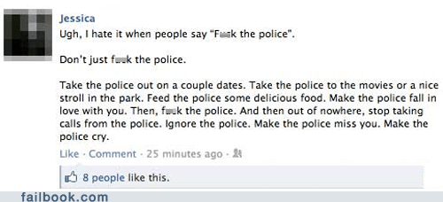 authority,dating,failbook,oh snap,police,social media