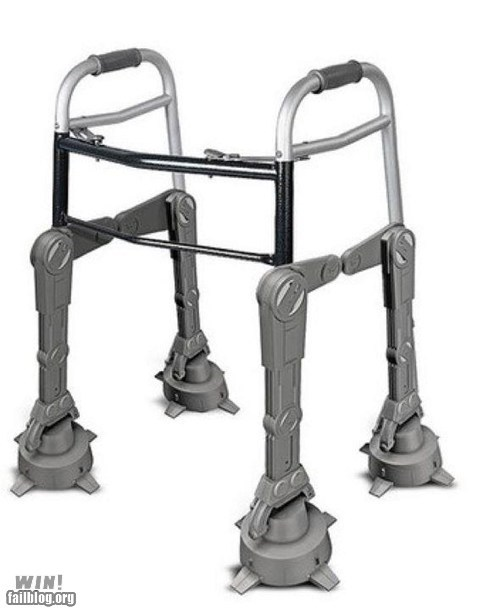 ATAT crutches elderly getting old handicapped nerdgasm star wars