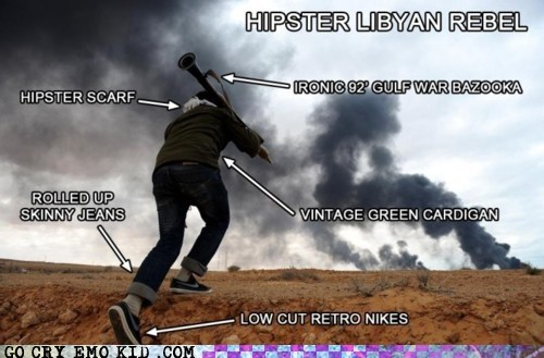 hipster,hipsterlulz,Libyan Civil War,mainstream,news