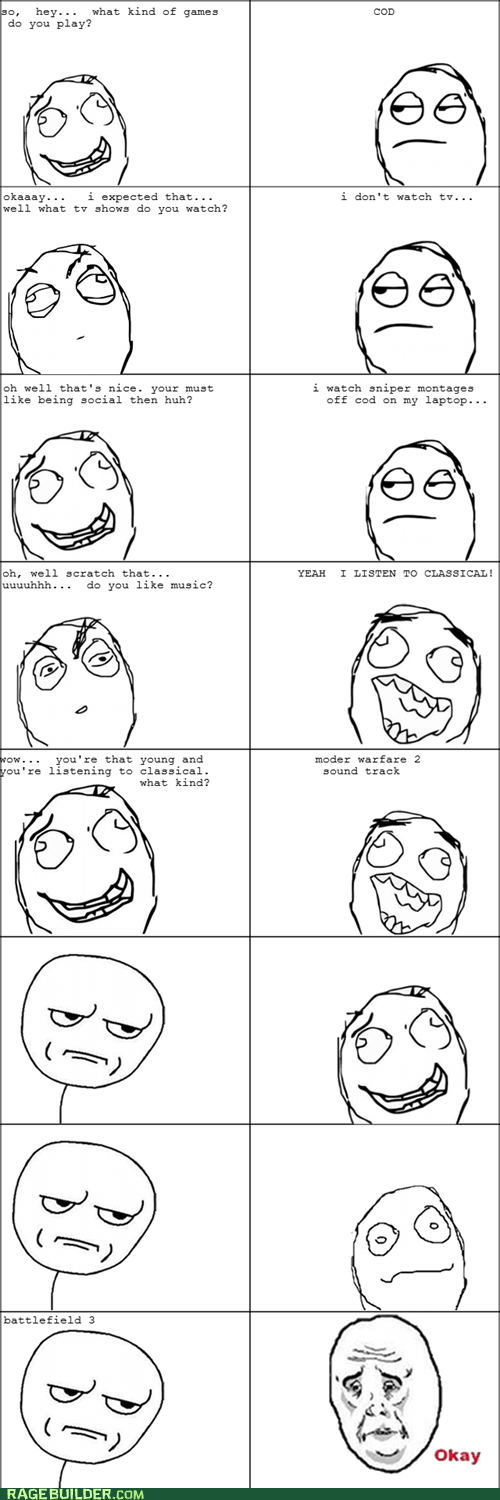 cod obsessed Rage Comics video games