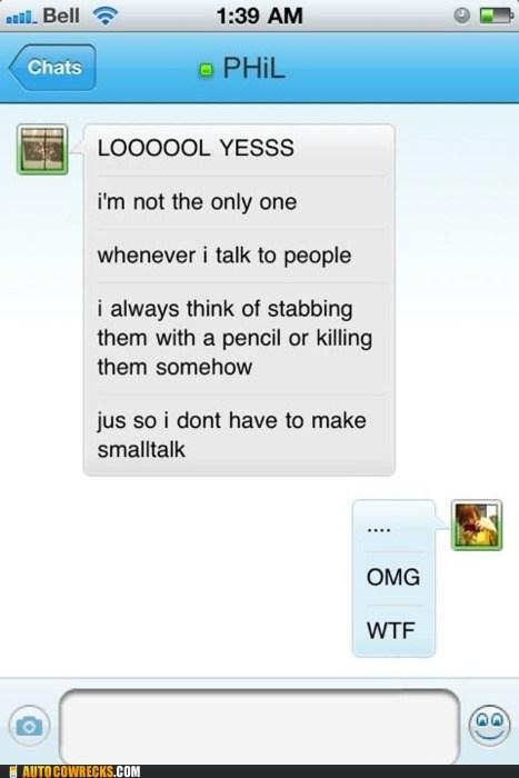 anti social killing penguin small talk stabbing - 5509135360