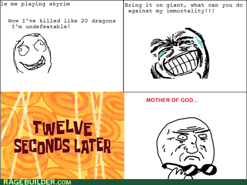 giants,Rage Comics,Skyrim,video games