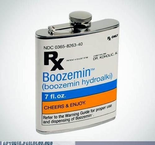 alcohol booze drinking flask prescription - 5509182208