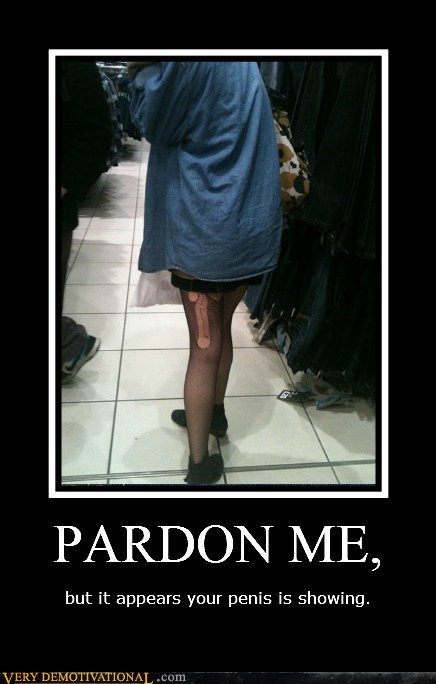 hilarious pardon me peen run stocking - 5509233408