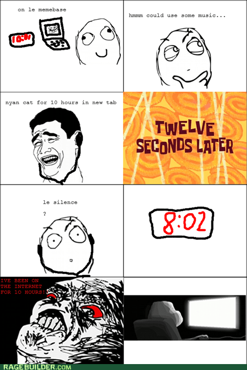 internet,Nyan Cat,Rage Comics,time