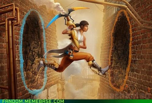 chell Fan Art Portal video games - 5509303296