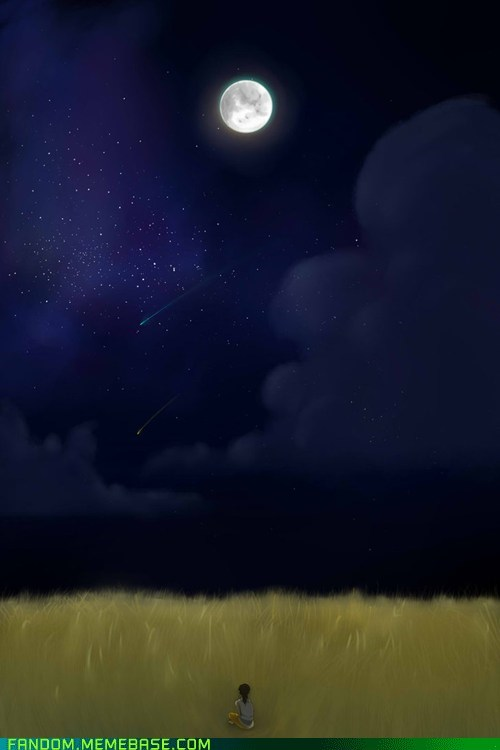 Fan Art,freedon,night sky,portal 2