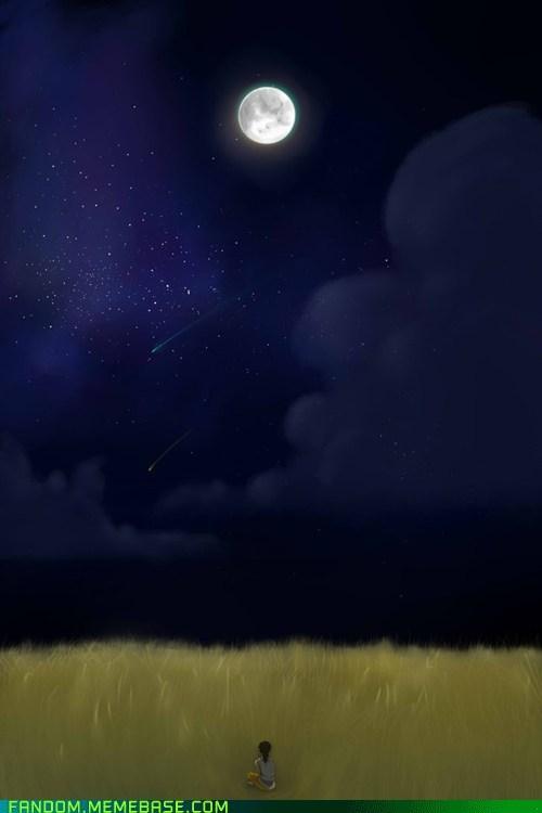 Fan Art freedon night sky portal 2 - 5509307904