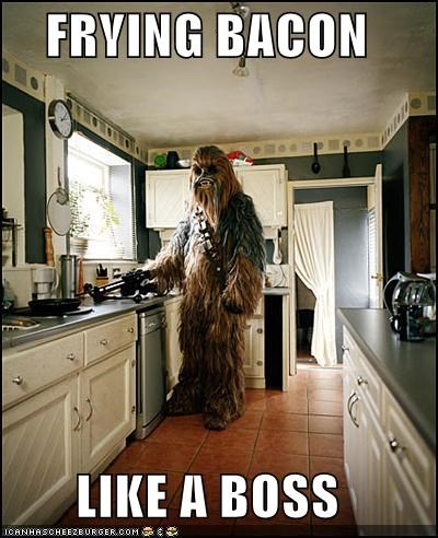 bacon,chewbacca,kitchen,Like a Boss,star wars