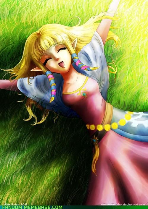 Fan Art legend of zelda video games zelda - 5509340160