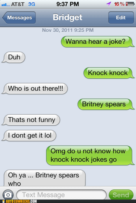 britney spears joke jokes knock knock knock knock joke - 5509441792
