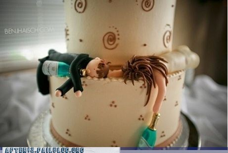 booze cake drinking passed out true love wedding - 5509708032