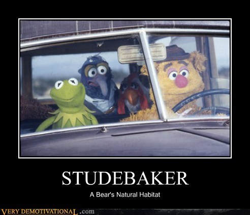 car,fozzie,gonzo,hilarious,kermit,muppets,studebaker