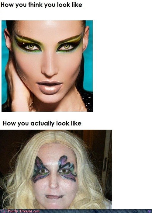 How you think you did your make-up