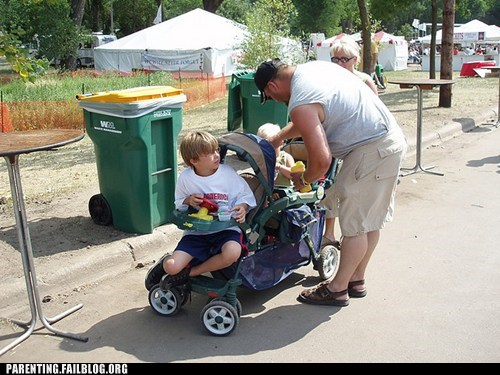 cart,dad,kid,lazy,Parenting Fail,spoiled,stroller,traveling