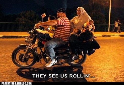 bike driving family haters gonna hate Parenting Fail safety they see me rollin - 5509849600