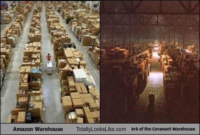 amazon,funny,Movie,raiders of the lost ark,TLL,warehouse