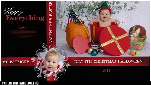 baby christmas christmas card clever holidays Parenting Fail
