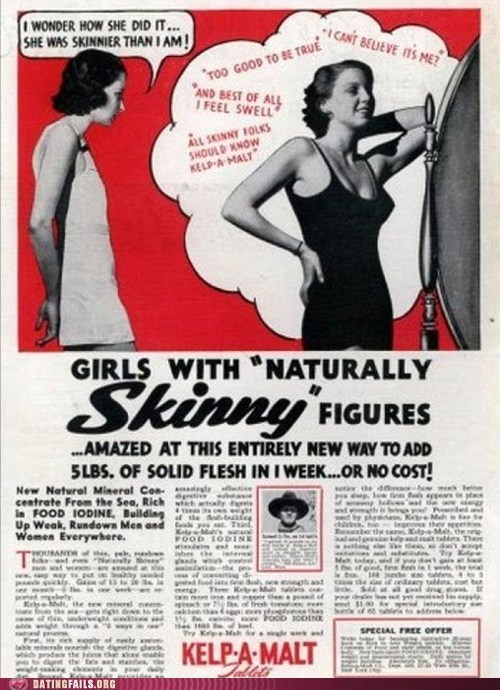 ads,body image,Gee,golly,old timey,skinny,swell,vintage,We Are Dating