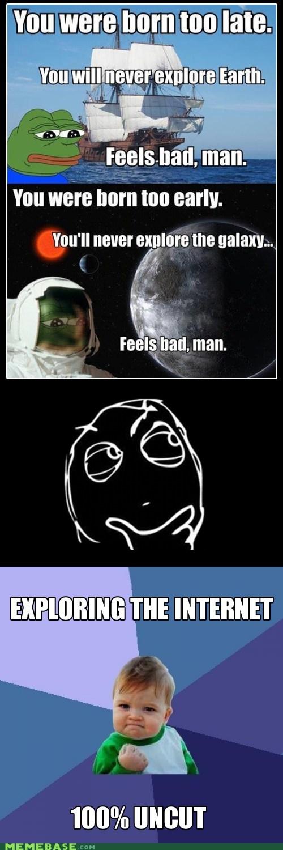 earth exploration feels bad man frog galaxy Memes stars - 5509927424