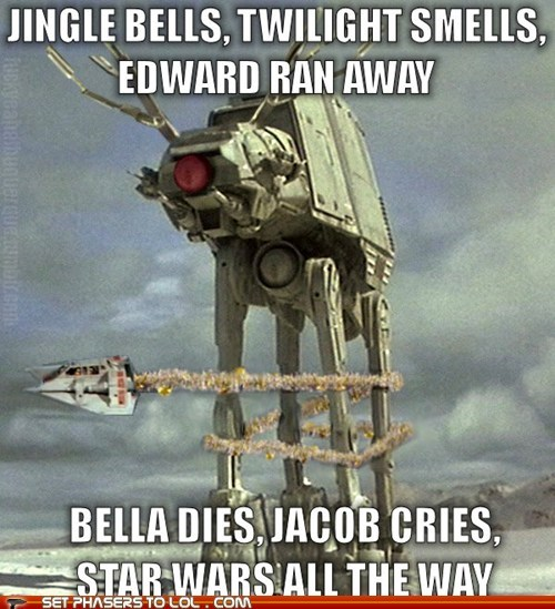 bella,christmas,cries,dies,edward cullen,Jacob,jingle bells,star wars