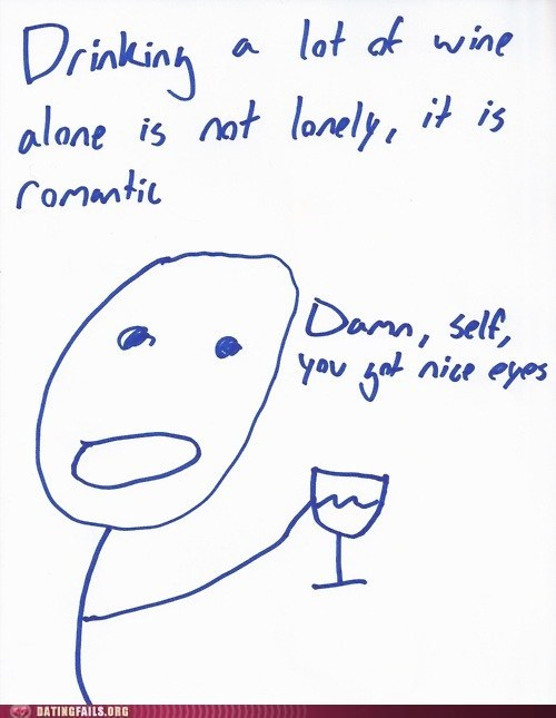 dating,drinking,forever alone,hey there,relationships,romantic,treat-yo-self,We Are Dating,wine