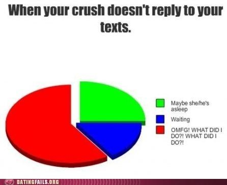 crush,infographic,texting,We Are Dating,what have I done,worst case scenario