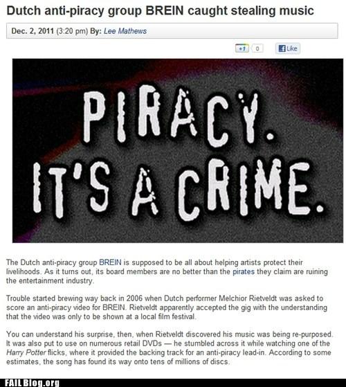 Hypocrisy irony piracy Probably bad News - 5510290944