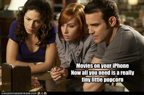 allison scagliotti,eddie mcclintock,farnsworth,iphone,joanne kelly,myka bering,pete latimer,warehouse 13