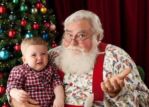 derp face mall meh portrait santa toddler