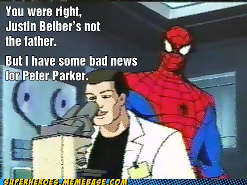 Father justin beiber shot web Spider-Man Super-Lols - 5510639104