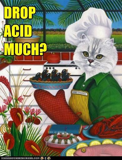 acid art cat drugs Mushrooms nursery rhymes painting - 5510769664