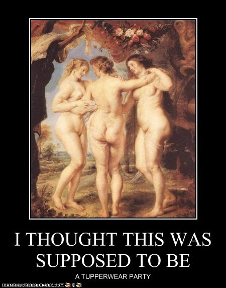 art,historic lols,innuendo,nudes,painting,tupperware,tupperware party,women