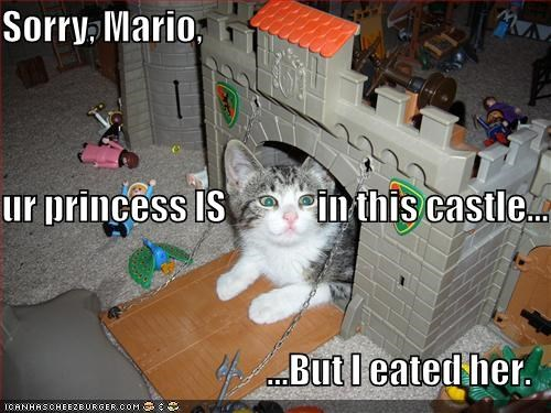Sorry, Mario, ur princess IS in this castle... ...But I eated her.