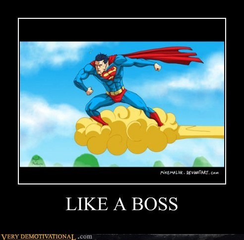 goku hilarious Like a Boss superman - 5511145472