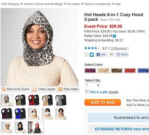 hoods leopard print ninjas winter weird - 5511363072