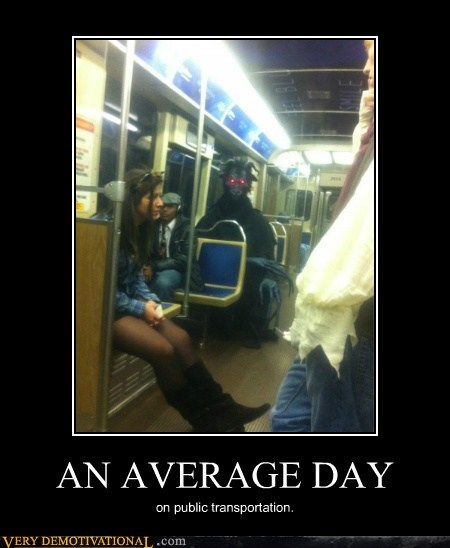 average day,costume,hilarious,public transportation