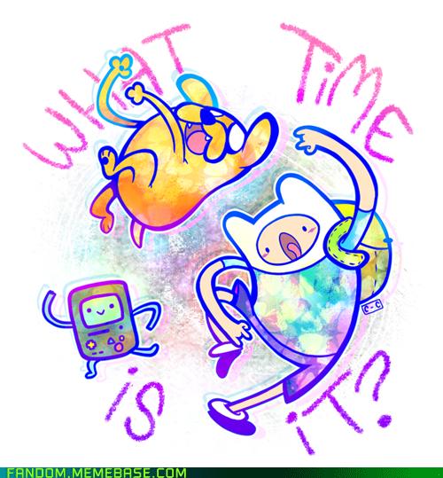 adventure time cartoon network Fan Art what time is it
