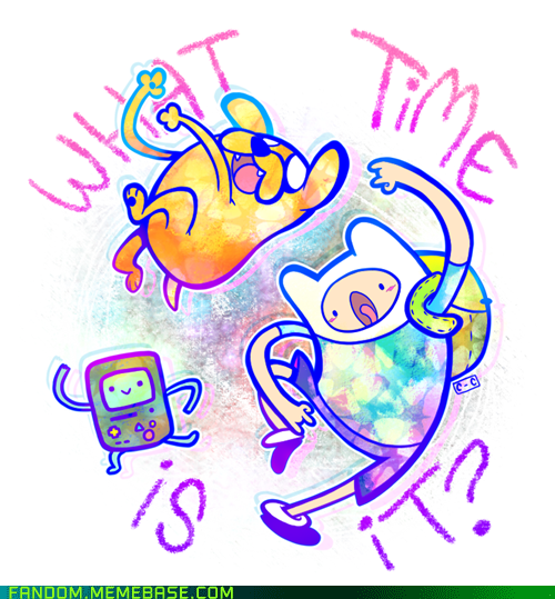 adventure time cartoon network Fan Art what time is it - 5511690496