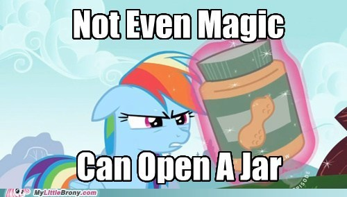jars,magic,peanut butter,rainbow dash,TV