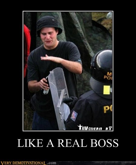beer,cop,hilarious,Like a Boss,riot shield