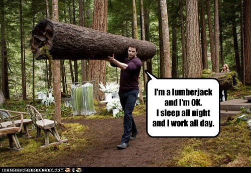 Kellan Lutz,logs,lumberjack,Memes,Songs,twilight