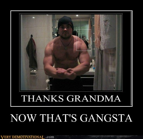 gangsta grandma hilarious Photo wtf muscles - 5512138496