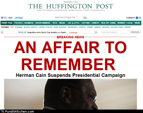 drop out,election 2012,herman cain,political pictures,scandal