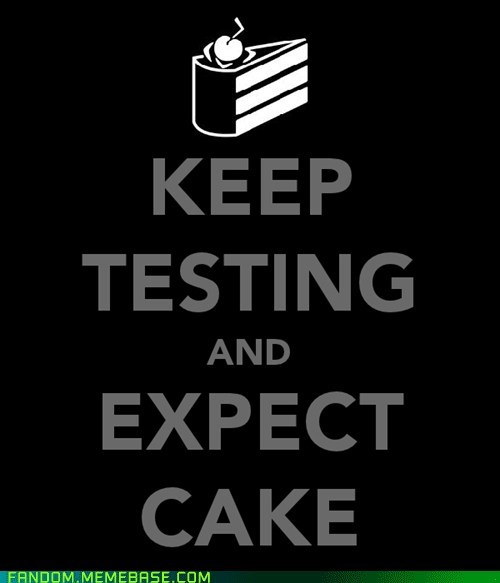 best of week cake Fan Art keep calm and carry on Portal poster video games - 5513575936