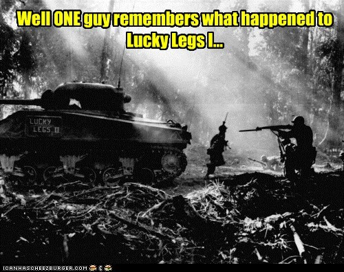 Well ONE guy remembers what happened to Lucky Legs I...