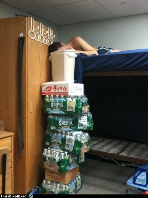 alcohol,dorm,drinking college,g rated,Hall of Fame,holding it up,there I fixed it